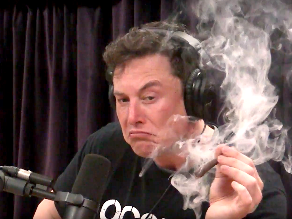 elon musk smokes joint